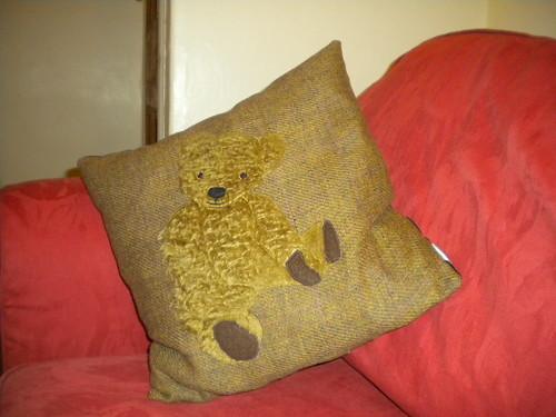 teddy bear cushion