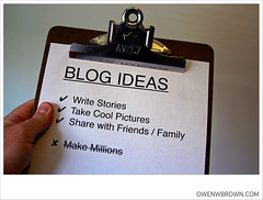 BLOG IDEAS by owenwbrown