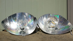 Solar funnel cookers made with diamond plate c...