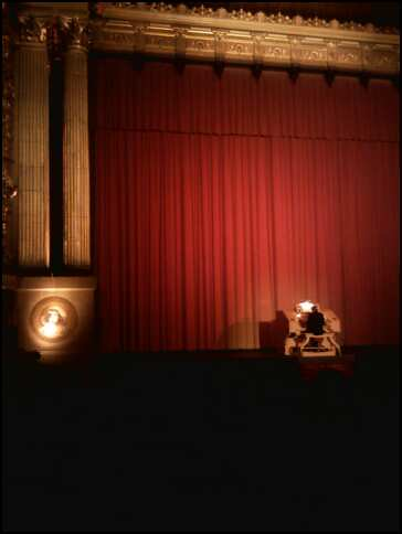Organist still plays the Wurlitzer prior to the start of the film at the Castro Theater