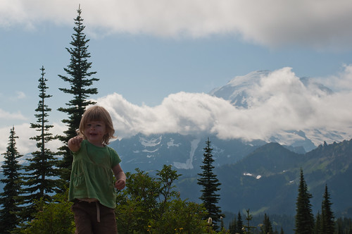 Ellie and Mount Rainier