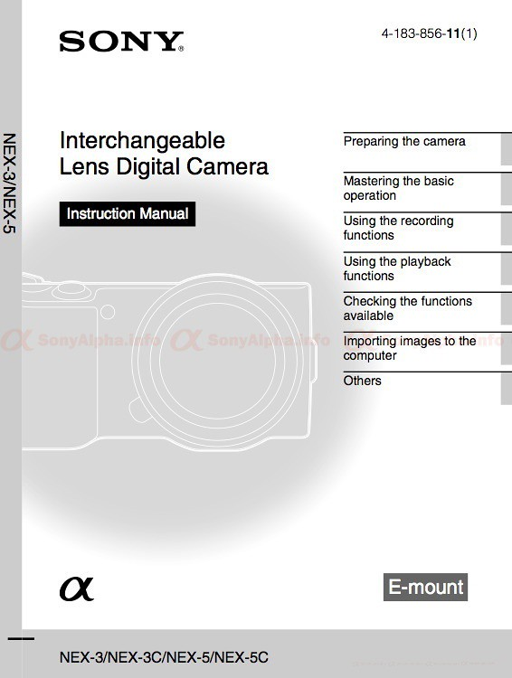 sony nex 3 and nex 5 user manual is available for download sony rh sonyalpha info sony operating manuals for str de 455 sony operator manual
