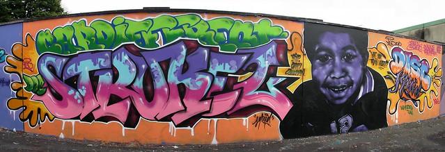 Graffiti in Roath-Different Strokes