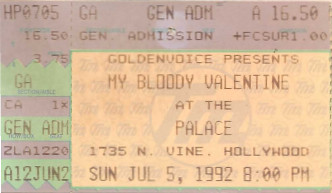 My Bloody Valentine, the Palace