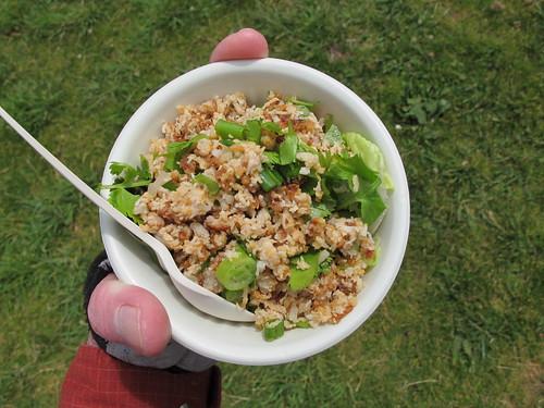 My Nam Khao (Lao rice salad) at Precita Park