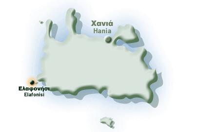 elafonisi map