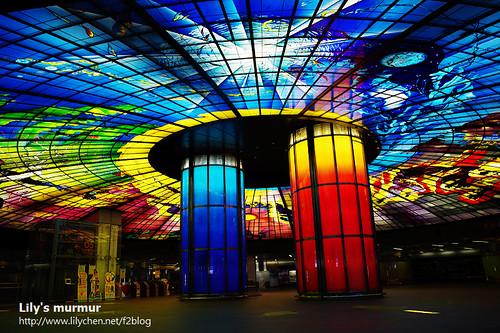 美麗壯觀非凡的「光之穹頂」。