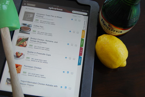 iPad while cooking