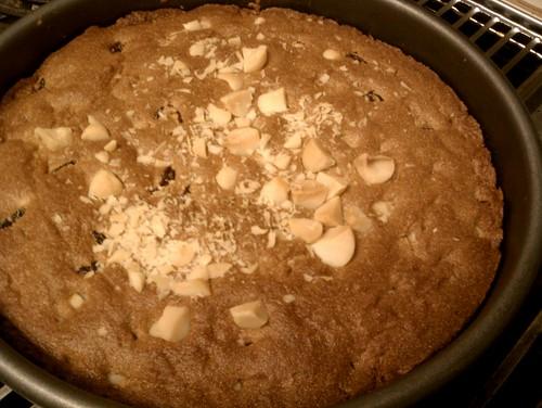 baked tart Cherry Macadamia Amaranth Round