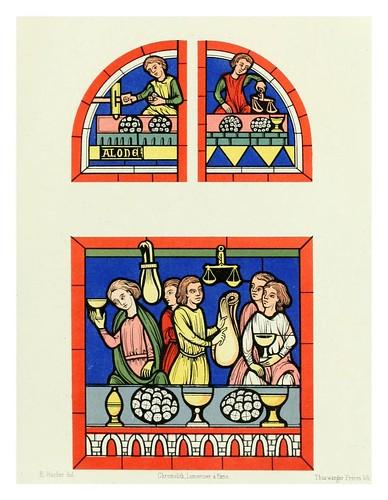 001-Cambistas siglo XIII vitral de la catedral de Mans -Le moyen äge et la renaissance…Vol III-1848- Paul Lacroix y Ferdinand Séré