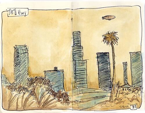 Sketch crawl 28: LA skyline