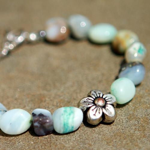 Blue opal baby nuggets bracelet