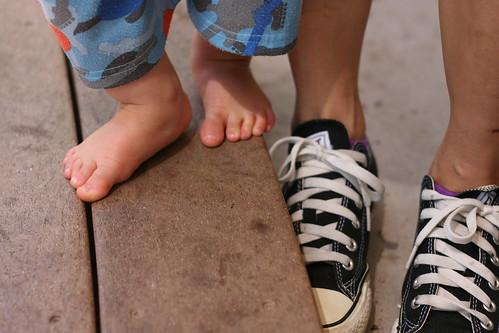 Momma feet and baby feet