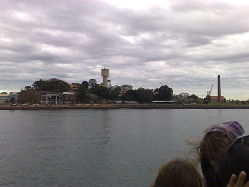 Approaching Cockatoo Island by ferry