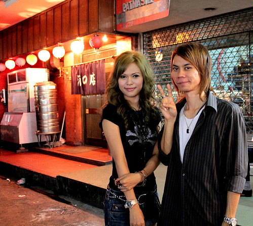 a cute thai girl rocking a japanese gyuaru style and her boyfriend