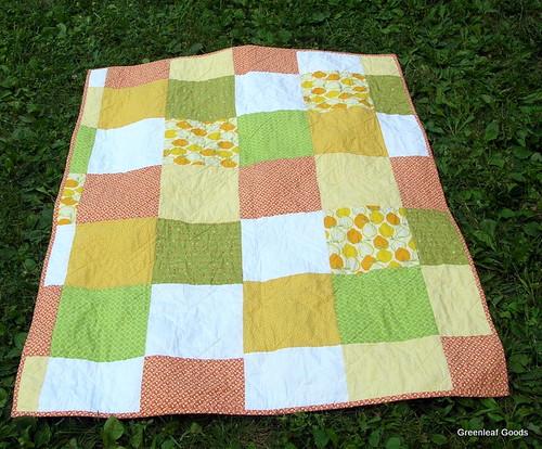 zigzag quilt back