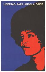 Iconic poster Free Angela Davis, by F. Beltran, 1971
