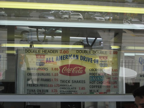 All American Burger Menu