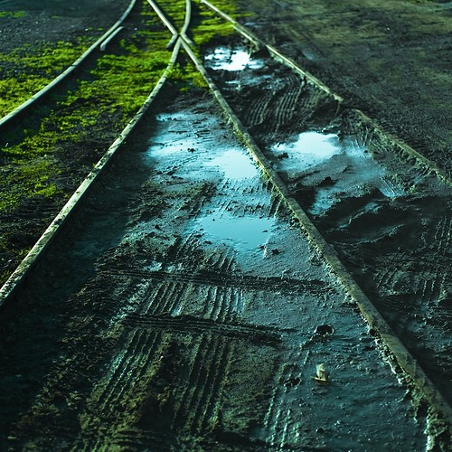 Cuba Gallery: Railroad / texture / abstract / tracks / puddles / design / background / photography