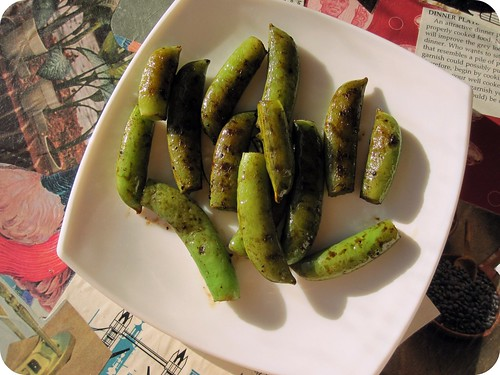 balsamic grilled sugar snap peas