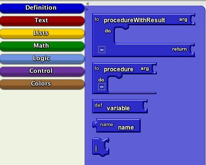 App Inventor - definition blocks