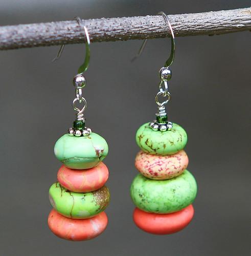 Turqoise cairn earrings