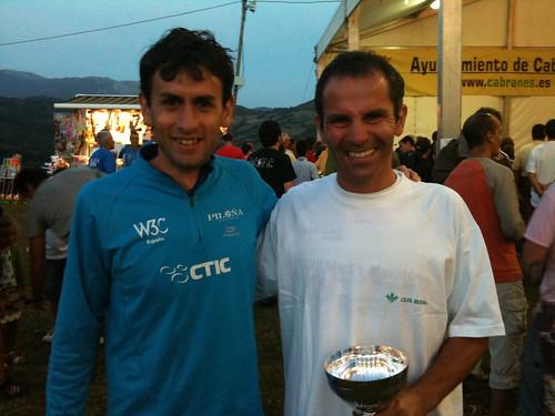 Martín y Solares en la Subida al Picu Incós 2010