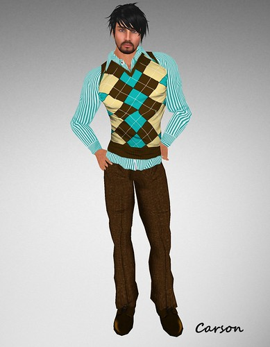 BalAni Stripes vest and Brown Pants