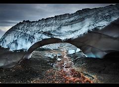 Snow Arch - Hrafntinnusker, Iceland by orvaratli