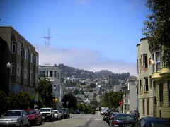 fog over twin peaks, as seen from the Castro