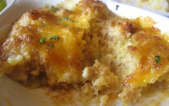 goin' coastal - jalapeño corn bread pudding