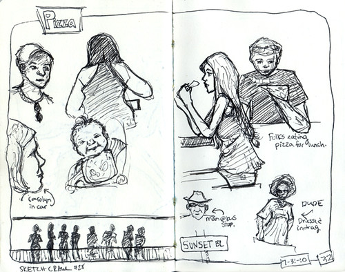 Sketch crawl 28: people
