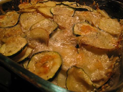 Zucchini & Potato Gratin