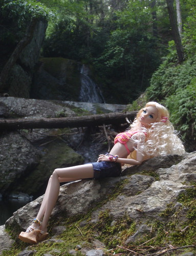 Alice at the Waterfall