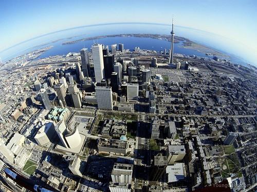 Birds Eye View of Toronto, Canada