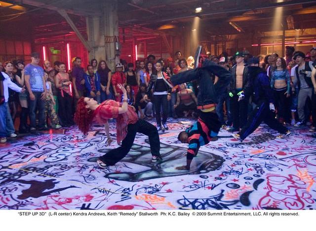 Slick dance scene