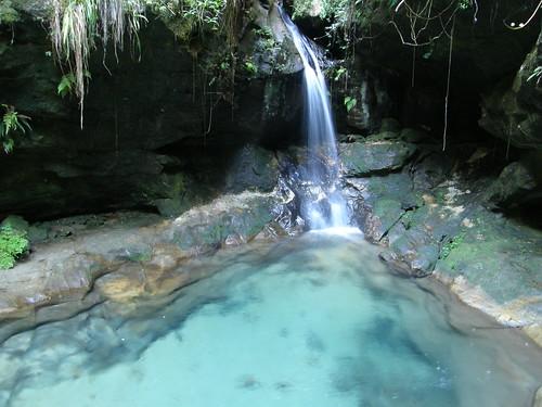 La piscina azul