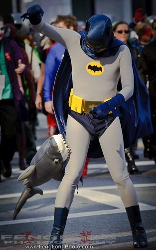 Dragon*Con Parade 2010 - Adam West Batman Shark Attack