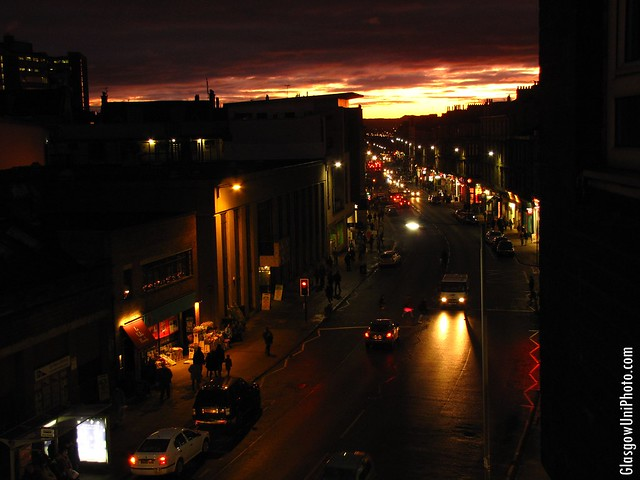 Byres Road at Night