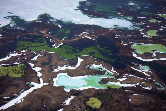 Melting lakes at Cambridge Bay