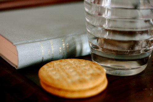 Saturday: Water, crackers, and Wodehouse. Hangover cure