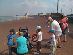 Barnado's Toddle walk for charity, Morecambe Prom