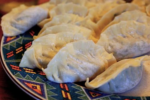 Gyoza style dumpling