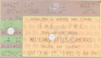 The Cure, The Rose Bowl
