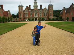 windswept boys at blickling