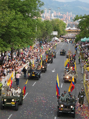 Towards the end of the parade, the Colombian army was represented.
