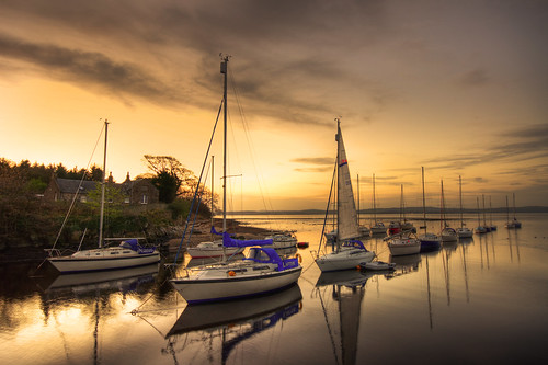 Cramond Boat Sunset