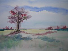 Art practice - Tree in a field (4 of 4)