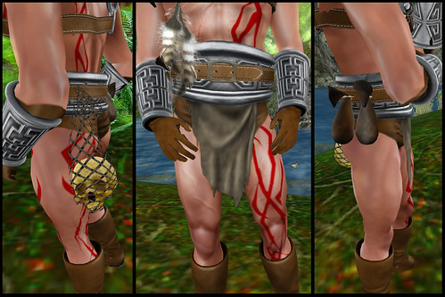 male barbarian - belt detail