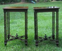 antique chippendale bamboo accent tables